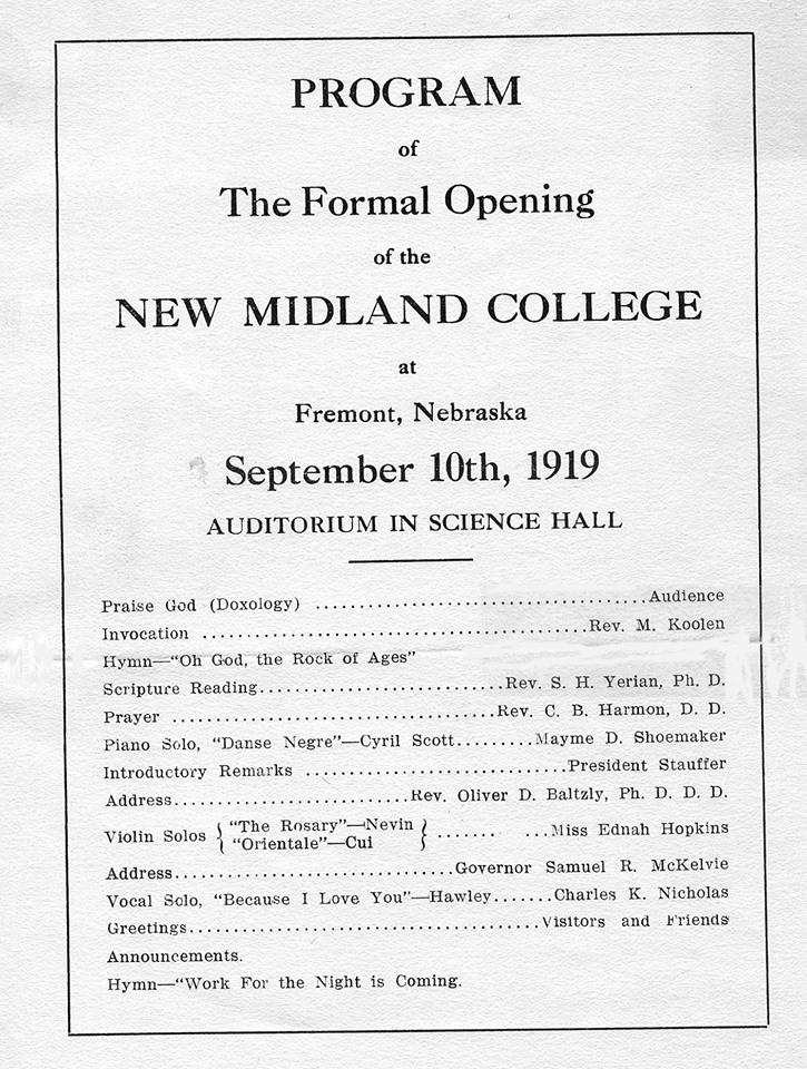 Formal Grand Opening 1919
